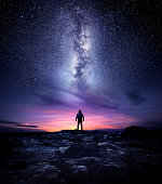 Milky Way Galaxy Night Landscape