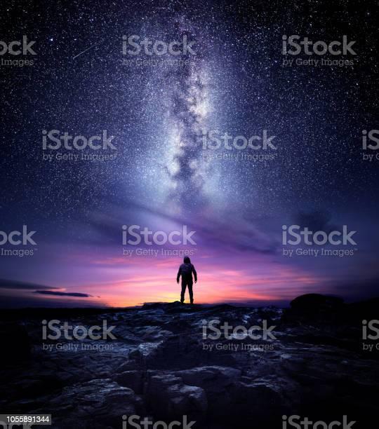 Photo of Milky Way Galaxy Night Landscape