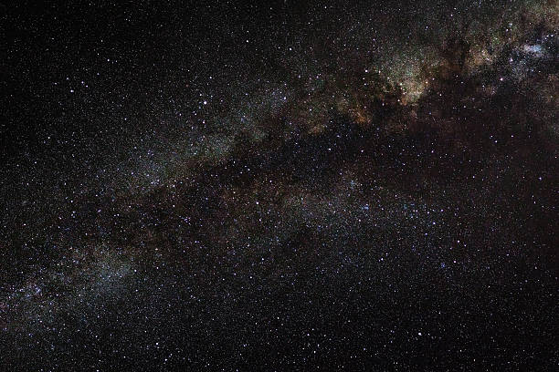 milky way galaxy on a night sky – Foto