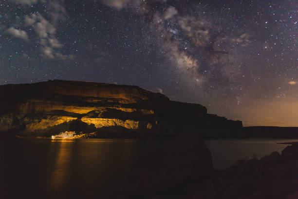 Milky Way Galaxy over Lake Powell stock photo