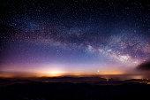 ミルキー 方法 銀河 、山の夜、Deogyusan マウンテンます。