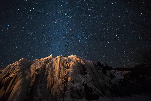 milky way galaxy over the colorado rockies - nightsky bildbanksfoton och bilder