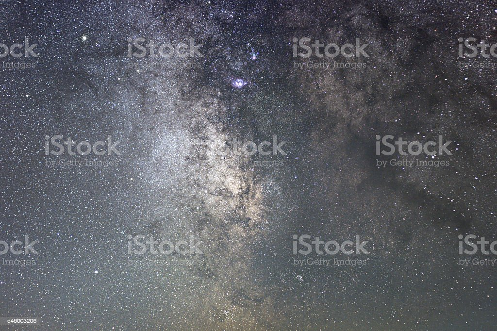 Milky Way galaxy sagittarius. Core of Milky Way. Starry Night stock photo