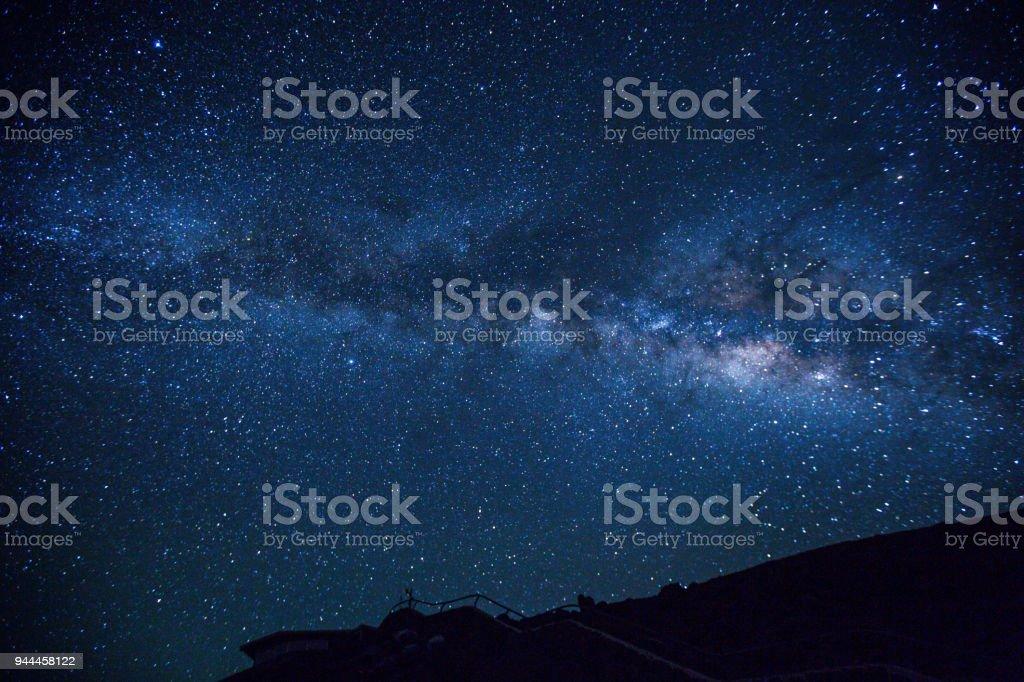 Milky Way - Haleakala stock photo