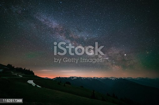 Milky Way Along Hurricane Ridge At Olympic National Park