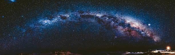 Via Láctea na Antártica. Vernadsky estação - foto de acervo