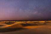 Sanddunes with Milky Way