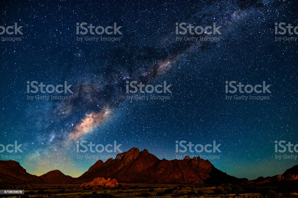 Milky Way in Namibia stock photo