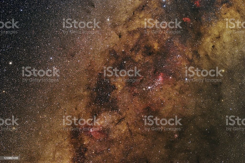 Milky Way in Scorpius royalty-free stock photo