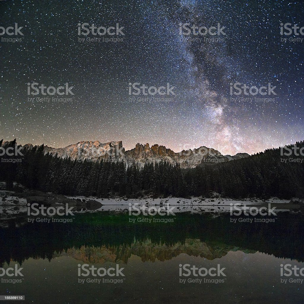 Milky Way in the Alps stock photo