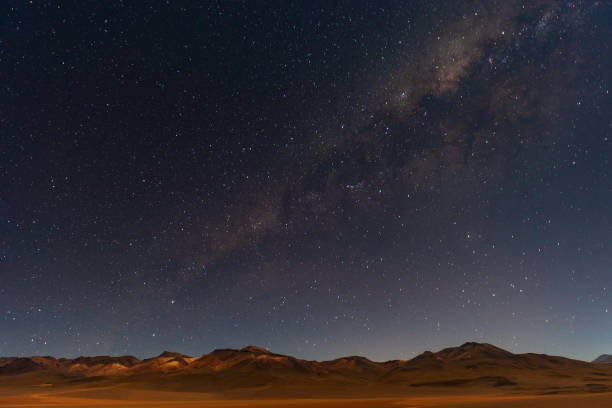 Milky Way in the Andes Mountains stock photo