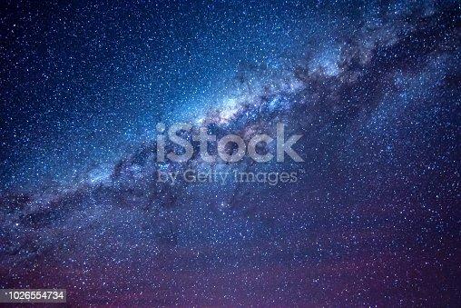Milky way in the night sky of Atacama desert Chile