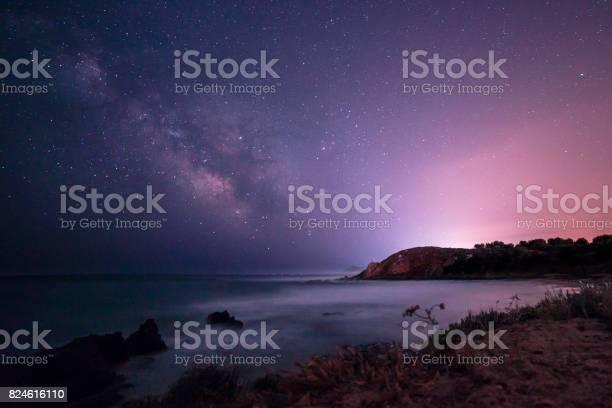 Photo of Milky way in the sky of Sardinia