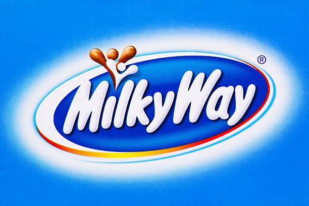milchstraße-logo - milky way stock-fotos und bilder