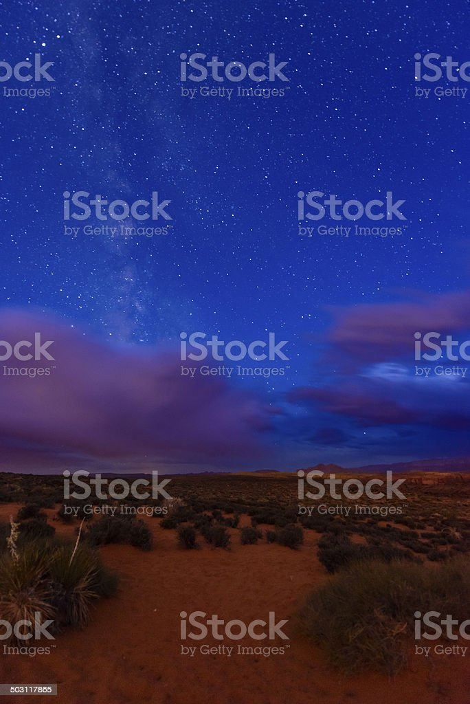 Milky Way near Horseshoe Bend - Arizona stock photo