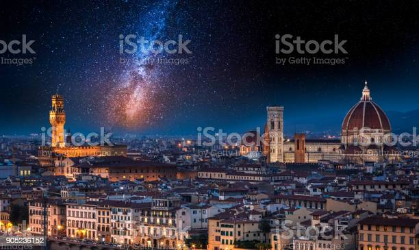 Milky way over florence at night italy picture id905236152?b=1&k=6&m=905236152&s=612x612&h=aryyeftk2m48en87gdh7swzre6cfwe1 qlh6srp2dmo=