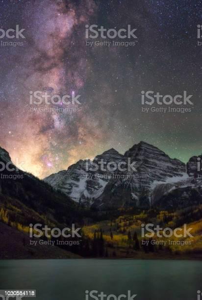 Photo of Milky Way over Maroon Bells, Aspen, Colorado