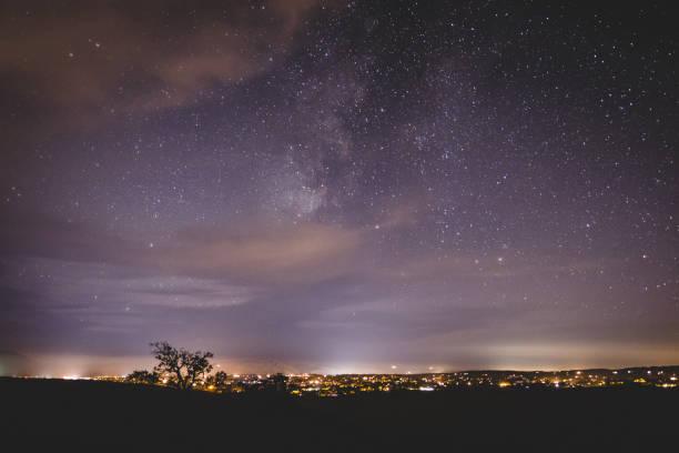 Milky Way over Santa Ynez stock photo