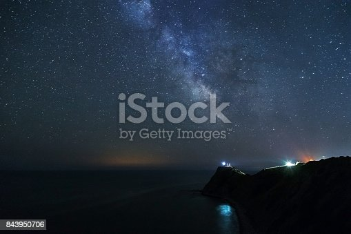 Milky way over the rocky bech