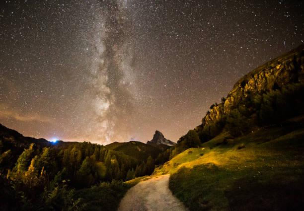 La Voie Lactée sur le matterhorn - Photo