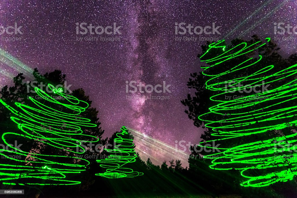Milky way painted royalty-free stock photo