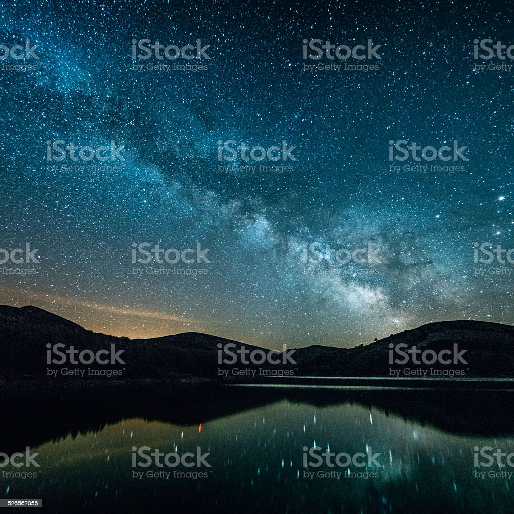 Milky way. stock photo
