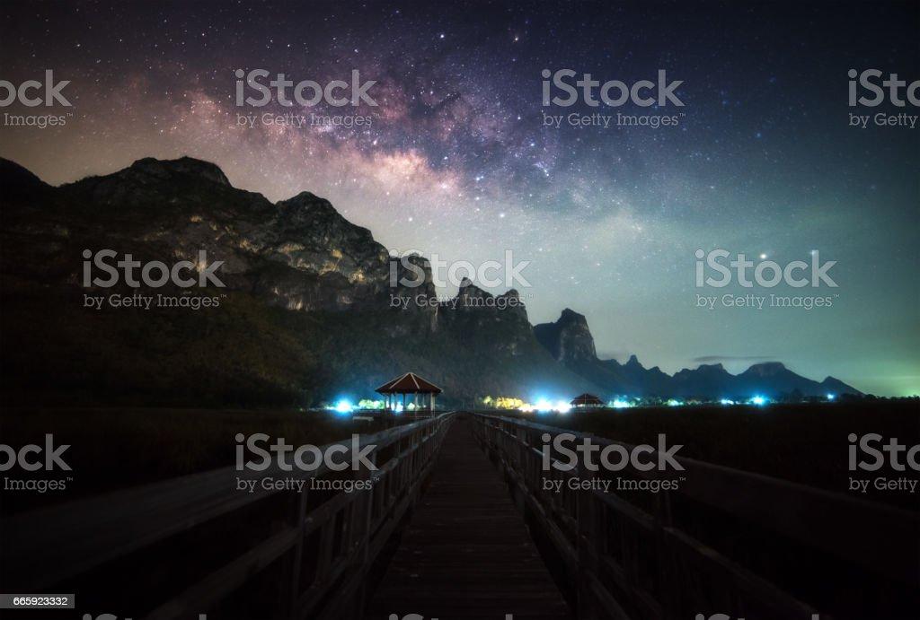 Milky way foto stock royalty-free