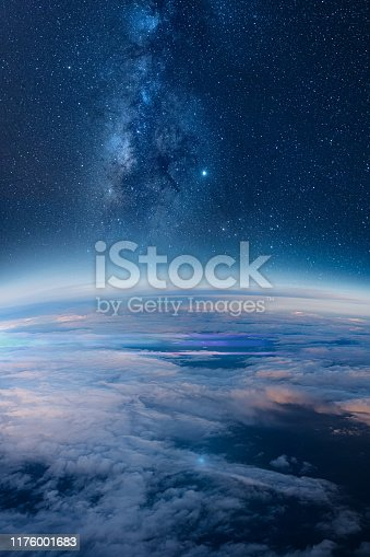 istock Milky way rising over the Earth's horizon 1176001683