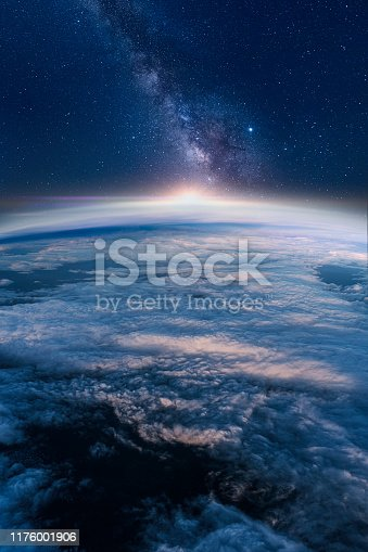 istock Milky way rising over the Earth's horizon 1176001906