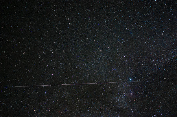 Milky Way Shooting Star stock photo
