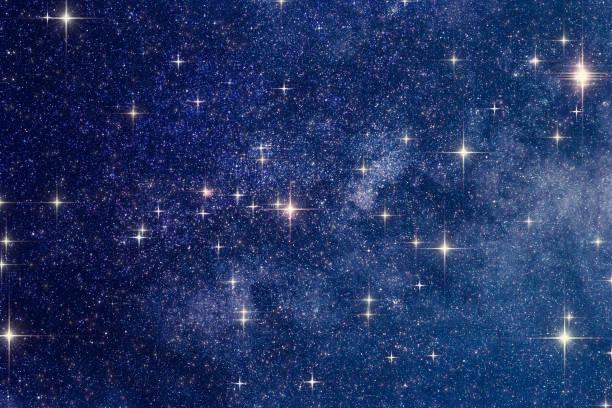 Milchstraße Sterne mit astronomischen Teleskop fotografiert. Meine Astronomiearbeit. – Foto