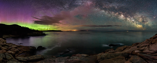 This was one very lucky night, to get these two nighttime beauties in the same, clear sky in Maine.