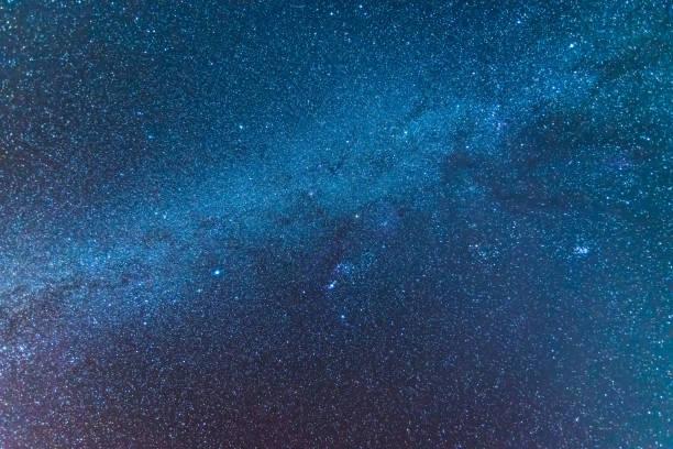 milky way universum voller sterne, nebel und galaxien raum lange staubbelastung. - sternhaufen stock-fotos und bilder
