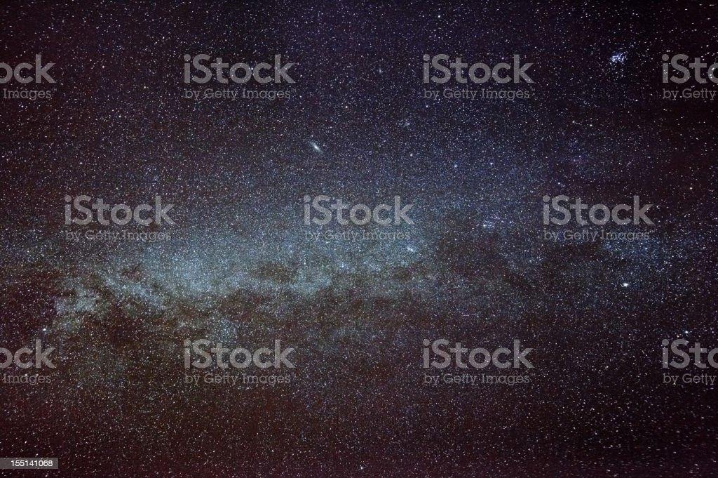 Milky Way Wide Angle Shot royalty-free stock photo