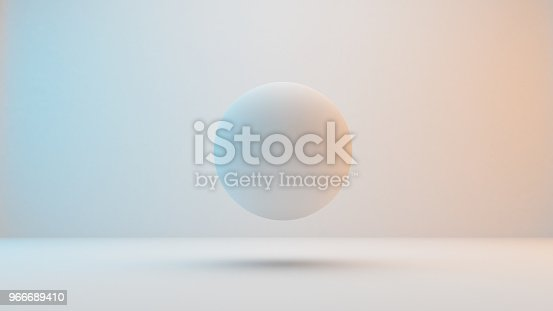 istock Milky white spheres  isolated on white background 966689410