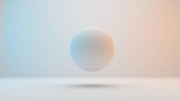 Milky white spheres  isolated on white background stock photo