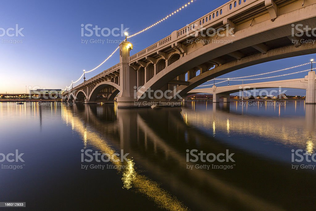 Mill Avenue Bridge royalty-free stock photo