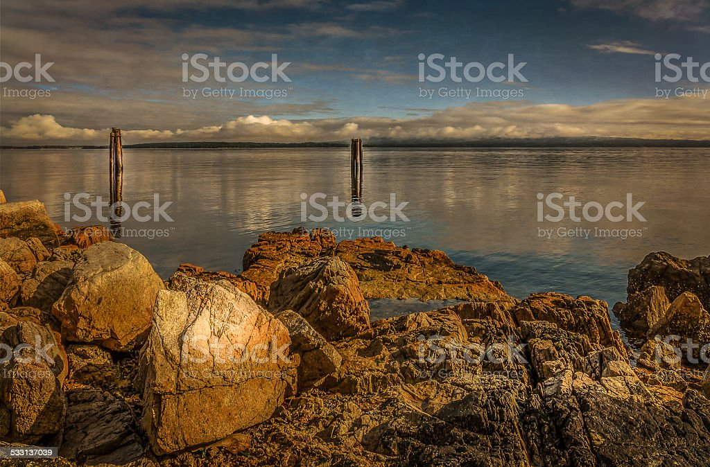 Mill Bay in the Cowichan Valley stock photo