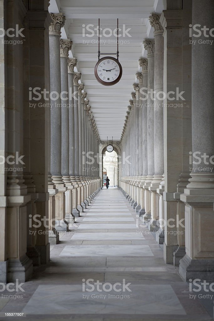 Mill Colonnade stock photo