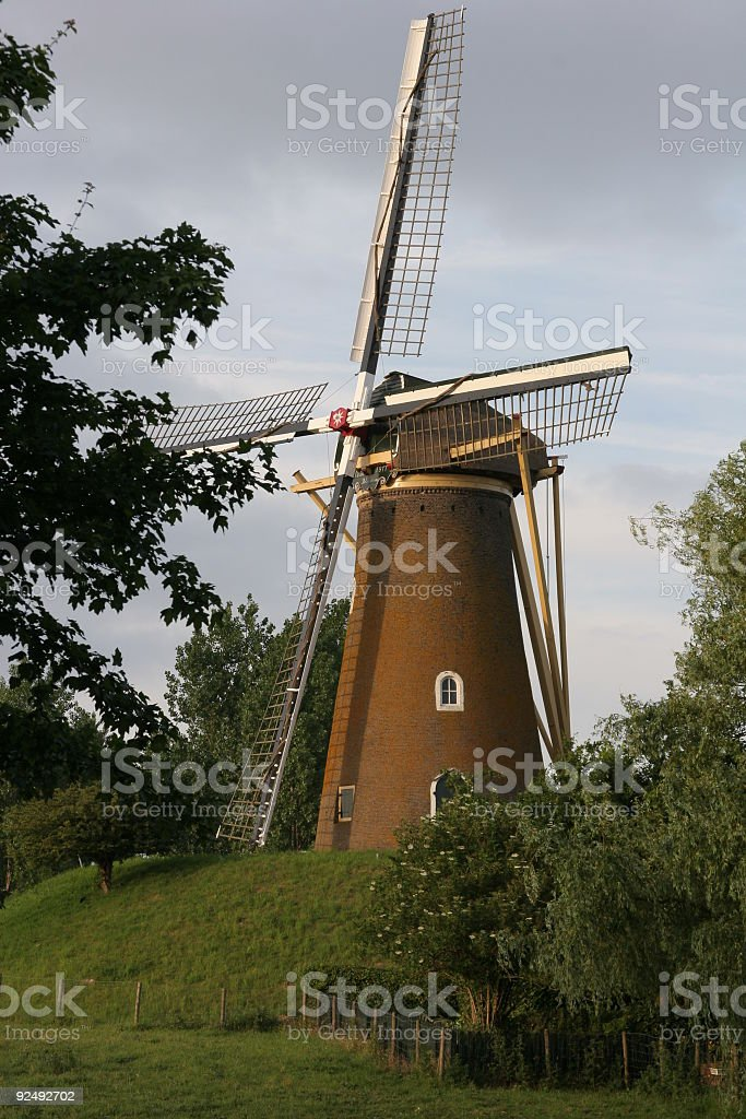 Mill in the evening royalty-free stock photo