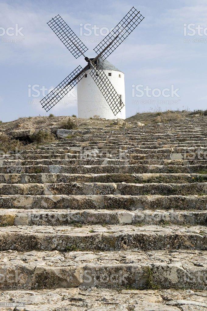 Mill of Campo de Criptana stock photo