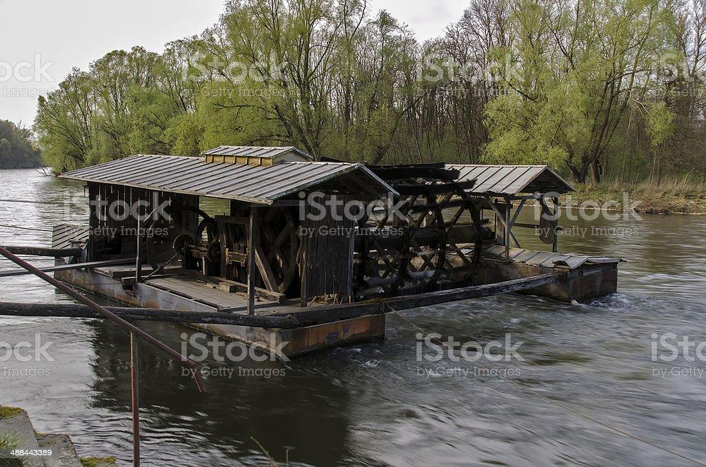 Mill on Mura river stock photo