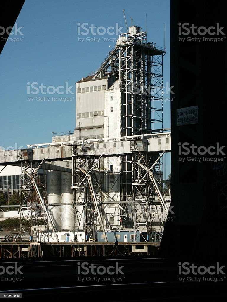 Mill on the River- Portland royalty-free stock photo