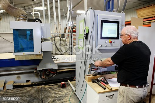 istock CNC Mill operator 502349202