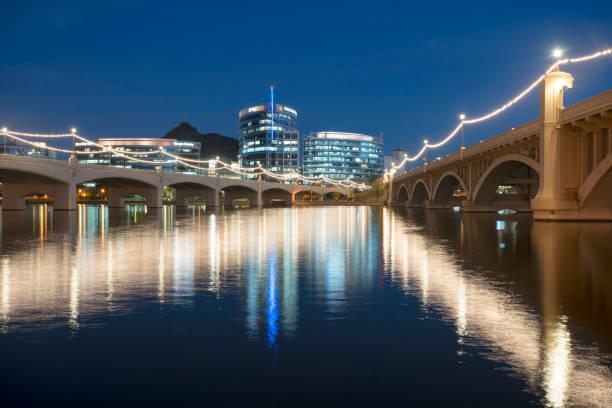 Mill Street Bridge stock photo