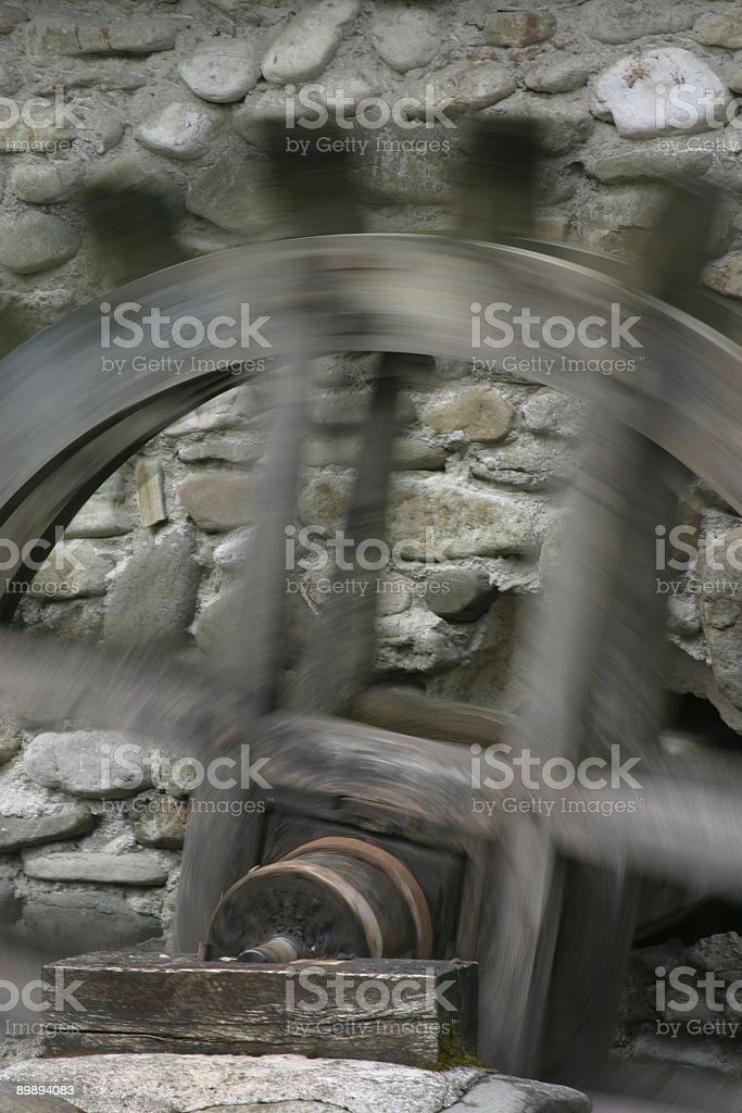 Mill wheel royalty-free stock photo