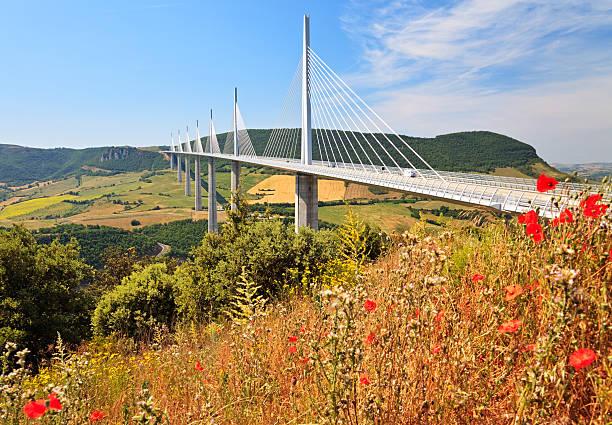 Millau Bridge, Southern France stock photo