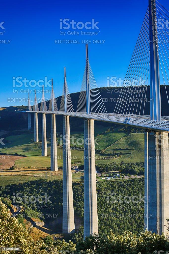 Millau Viaduct, Aveyron Deparement, France stock photo