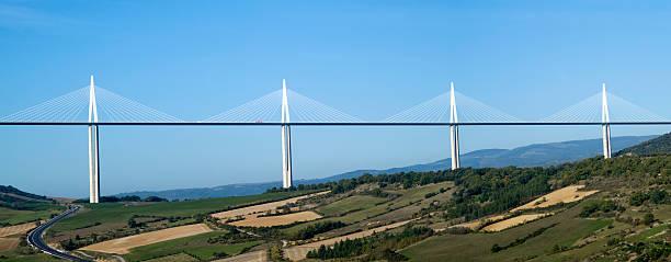 Millau Viaduct stock photo