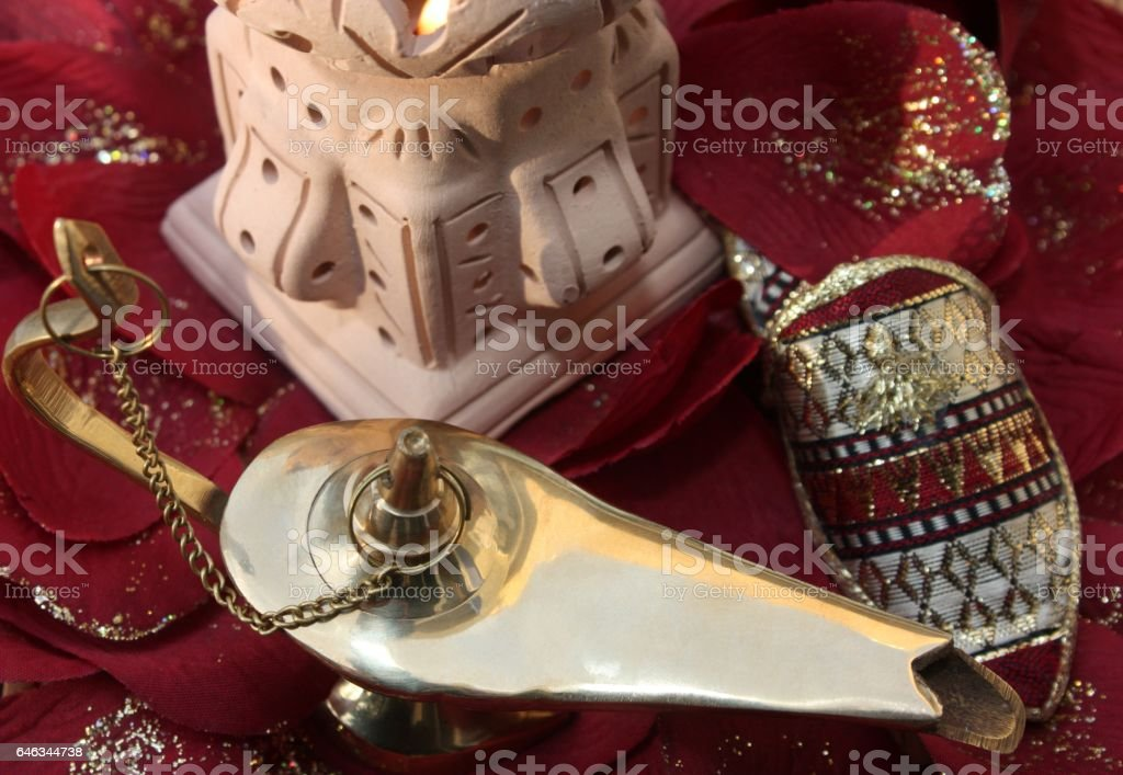 Mille et une nuits  -  Décor Oriental - Aladin stock photo